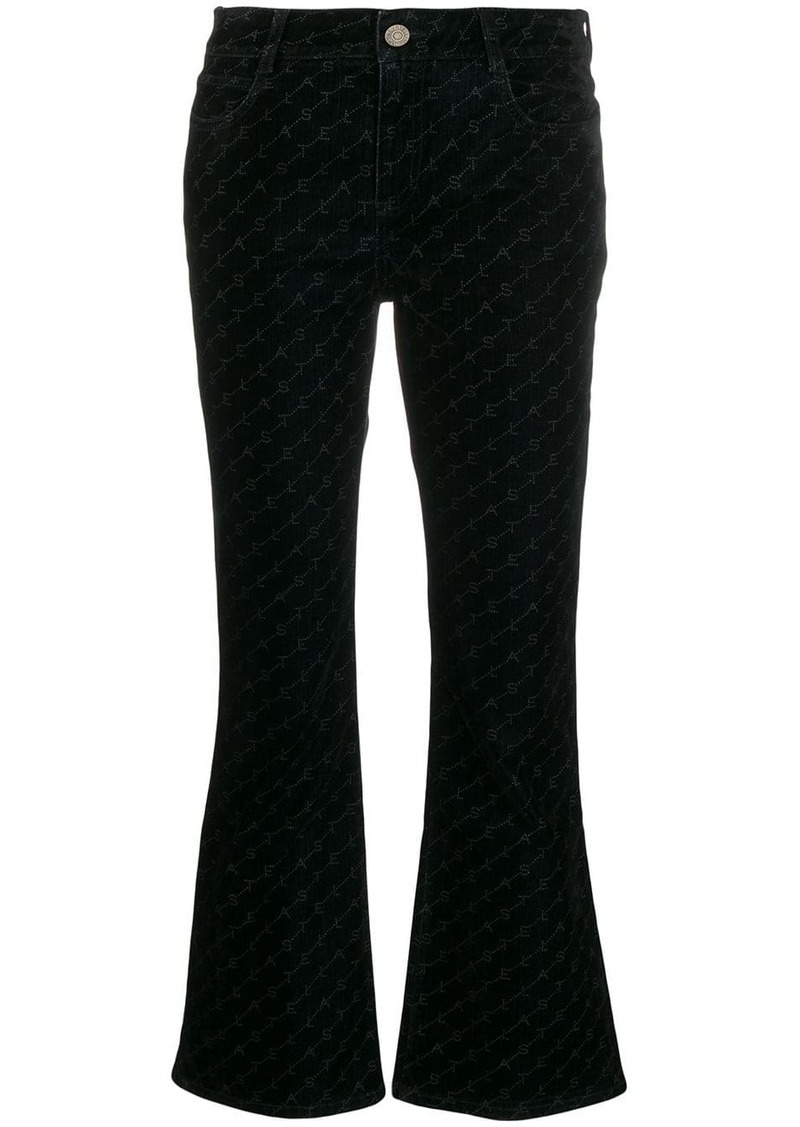 Stella McCartney Skinny Kick monogram flared jeans