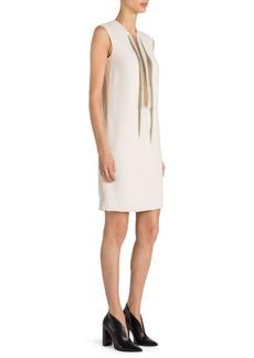 Stella McCartney Sleeveless Stretch-Cady Shift Dress