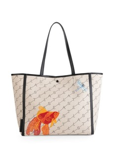 Stella McCartney Small Goldfish Monogram Canvas Tote