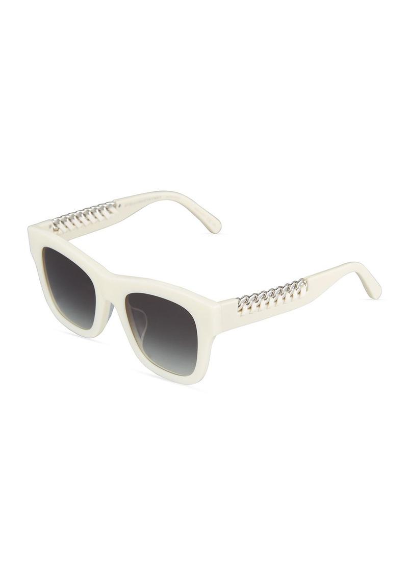93891518be SALE! Stella McCartney Square Plastic Sunglasses w  Chain Arms