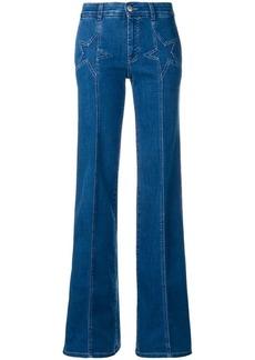 Stella McCartney star detail flared jeans
