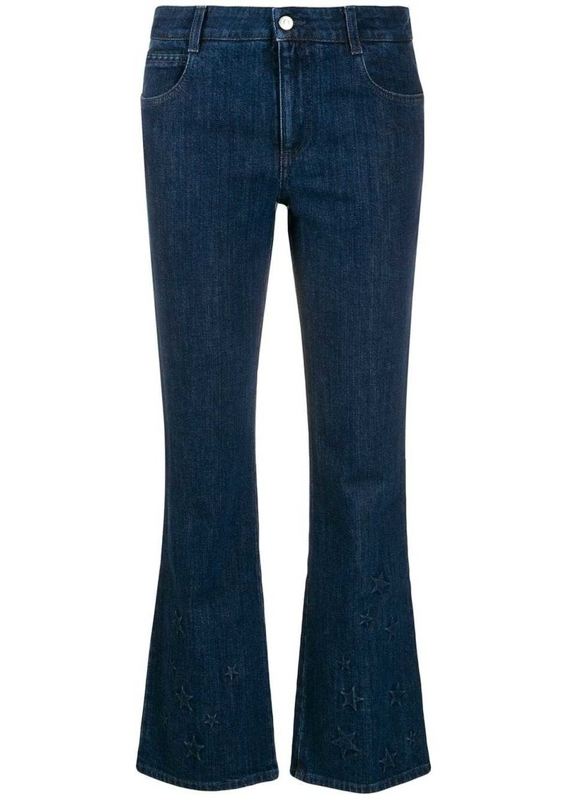 Stella McCartney star-embossed kick-flare jeans
