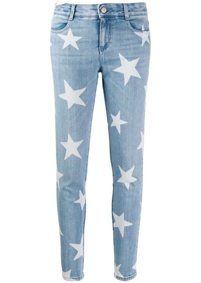 Stella McCartney star motif skinny jeans