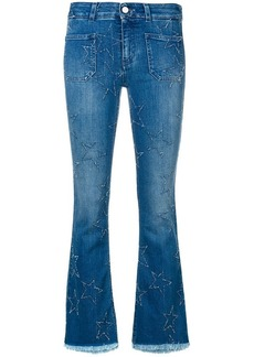 Stella McCartney star patch flare jeans