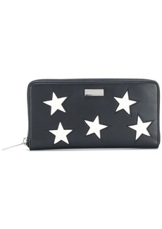 Stella McCartney star patch zip around wallet