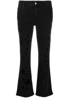 Stella McCartney star print kick-flare jeans