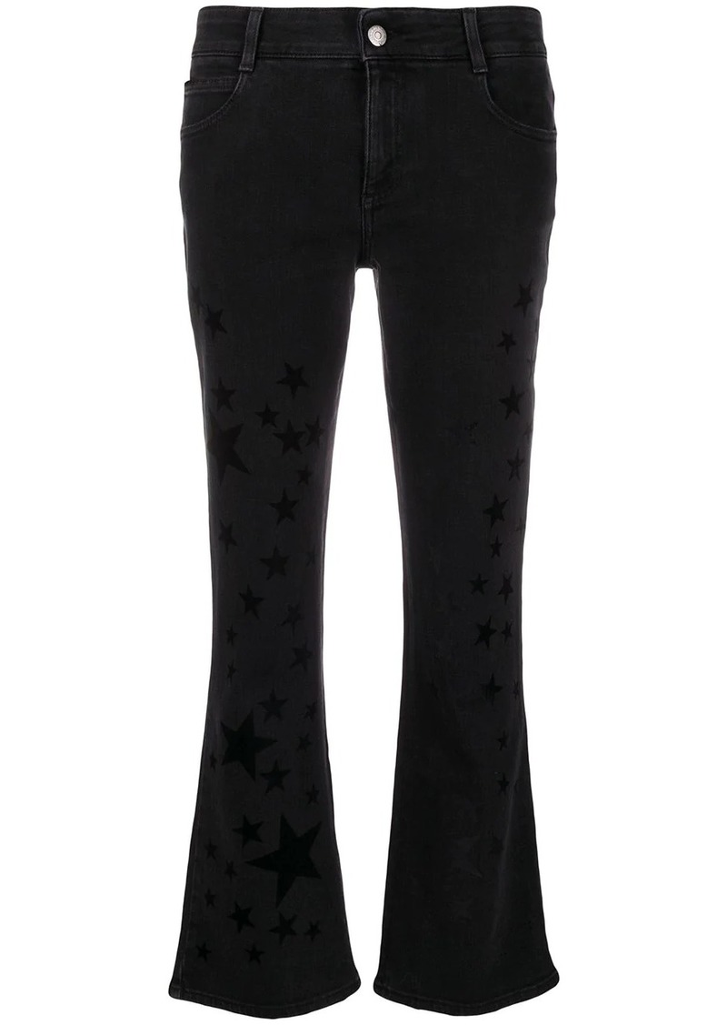 Stella McCartney star print kick-flare jeans
