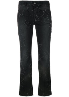 Stella McCartney star stitched crop flare jeans