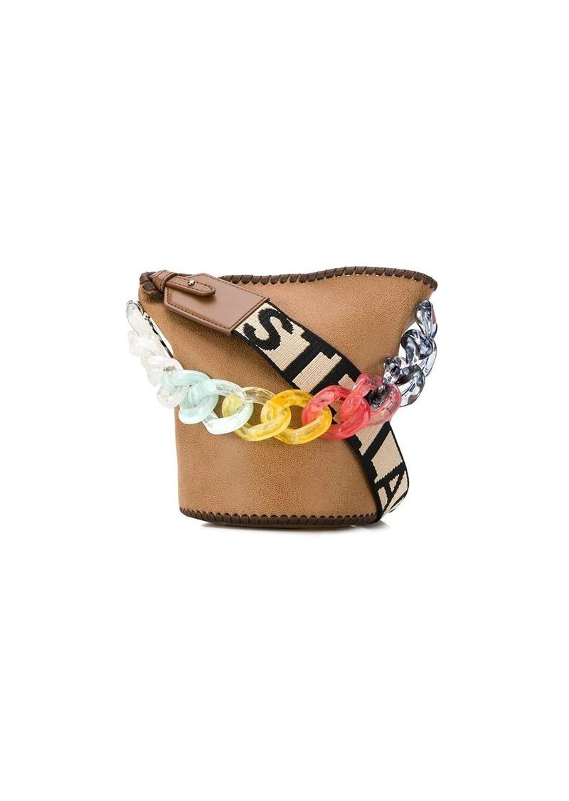 Stella Logo rainbow chain bucket bag