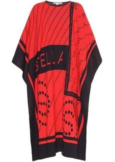 Stella McCartney Stella Logo stretch-wool poncho