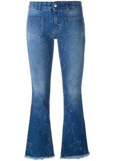 Stella McCartney '70's Flare' star detail jeans - Blue