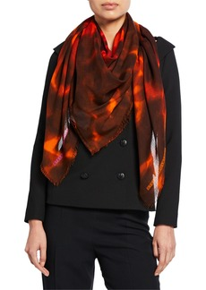 Stella McCartney Abstract Leopard Print Scarf