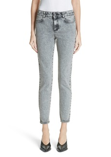 Stella McCartney Acid Wash Skinny Jeans (Silver Grey)