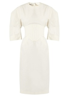 Stella McCartney Aleena round-shoulder corset dress