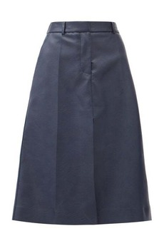 Stella McCartney Alisha high-rise faux-leather midi skirt