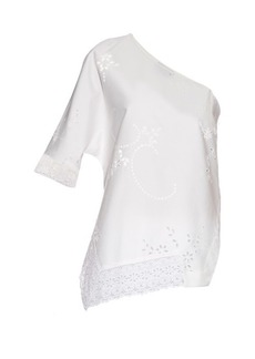 Stella McCartney Alix asymmetric-neckline cotton top