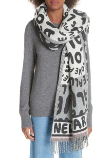 Stella McCartney All Is Love Wool & Cashmere Scarf