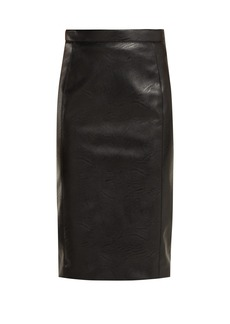 Stella McCartney Alter faux-leather and jersey pencil skirt
