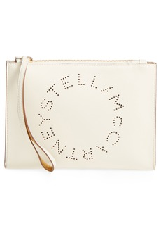 Stella McCartney Alter Faux Nappa Leather Wristlet Clutch