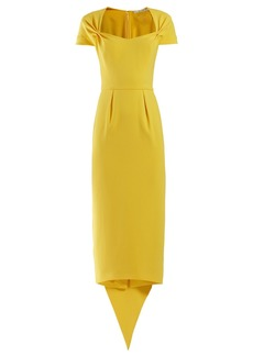 Stella McCartney Amal tie-back crepe dress