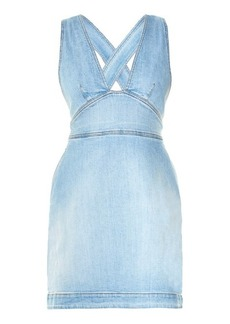 Stella McCartney Anne cross-back denim dress