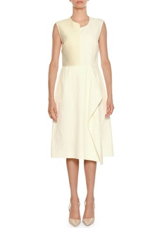Stella McCartney Asymmetric Sleeveless Sheath Dress with Ruffle Detail