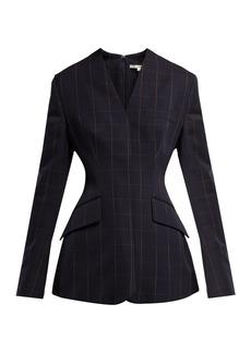 Stella McCartney Audrina windowpane-checked wool top