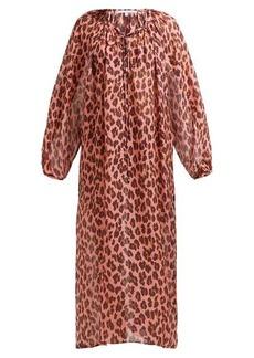 Stella McCartney Ballet leopard-printed silk kaftan