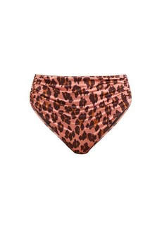 Stella McCartney Ballet leopard ruched bikini briefs