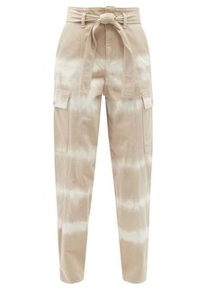 Stella McCartney Bamboo Safari tie-dye denim trousers