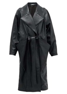 Stella McCartney Belted double-breasted faux-leather coat