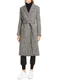 Stella McCartney Belted Mélange Wool Wrap Coat