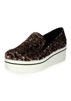 Stella McCartney Binx Leopard Sequin Skate Sneaker