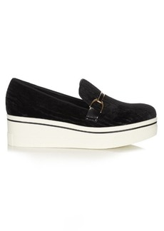 Stella McCartney Binx velvet flatform loafers