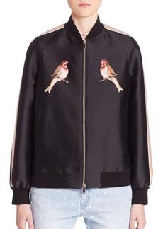 Stella McCartney Bird Embroidered Bomber Jacket