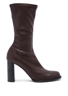 Stella McCartney Block-heel faux-leather boots