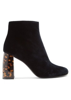 Stella McCartney Block-heel velvet ankle boots