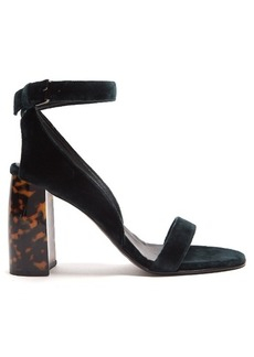 Stella McCartney Block-heel velvet sandals