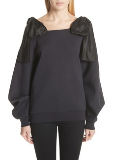 Stella McCartney Bow Strap Cold Shoulder Sweatshirt