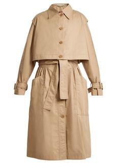 Stella McCartney Caban elasticated-waist cotton trench coat