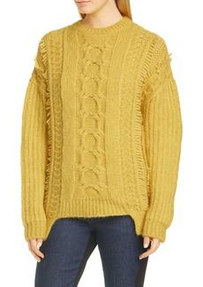 Stella McCartney Cable Knit Alpaca Blend Sweater