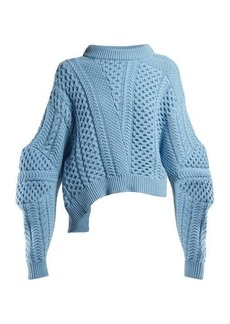 Stella McCartney Cable-knit cropped sweater