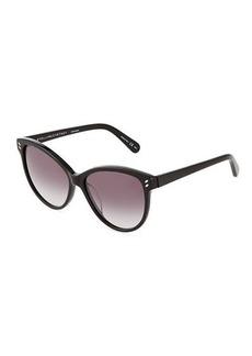 Stella McCartney Cat-Eye Havana Plastic Sunglasses