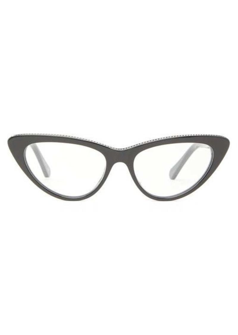 Stella McCartney Chain-inlay cat-eye acetate glasses