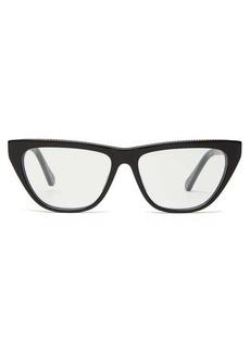Stella McCartney Chain-trimmed square acetate glasses
