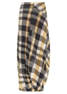 Stella McCartney Checked cotton-knit skirt