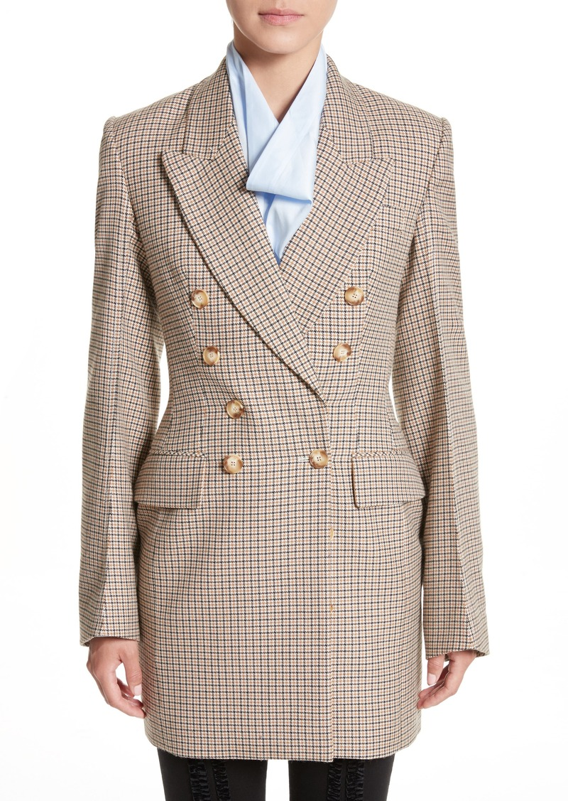 9a485ebb7 Check Wool Double Breasted Jacket