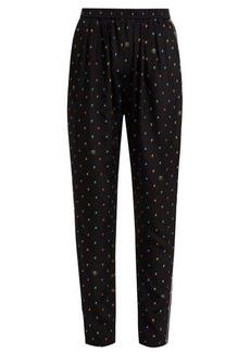 Stella McCartney Christine print silk trousers