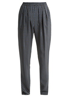 Stella McCartney Christine Tie-print silk trousers