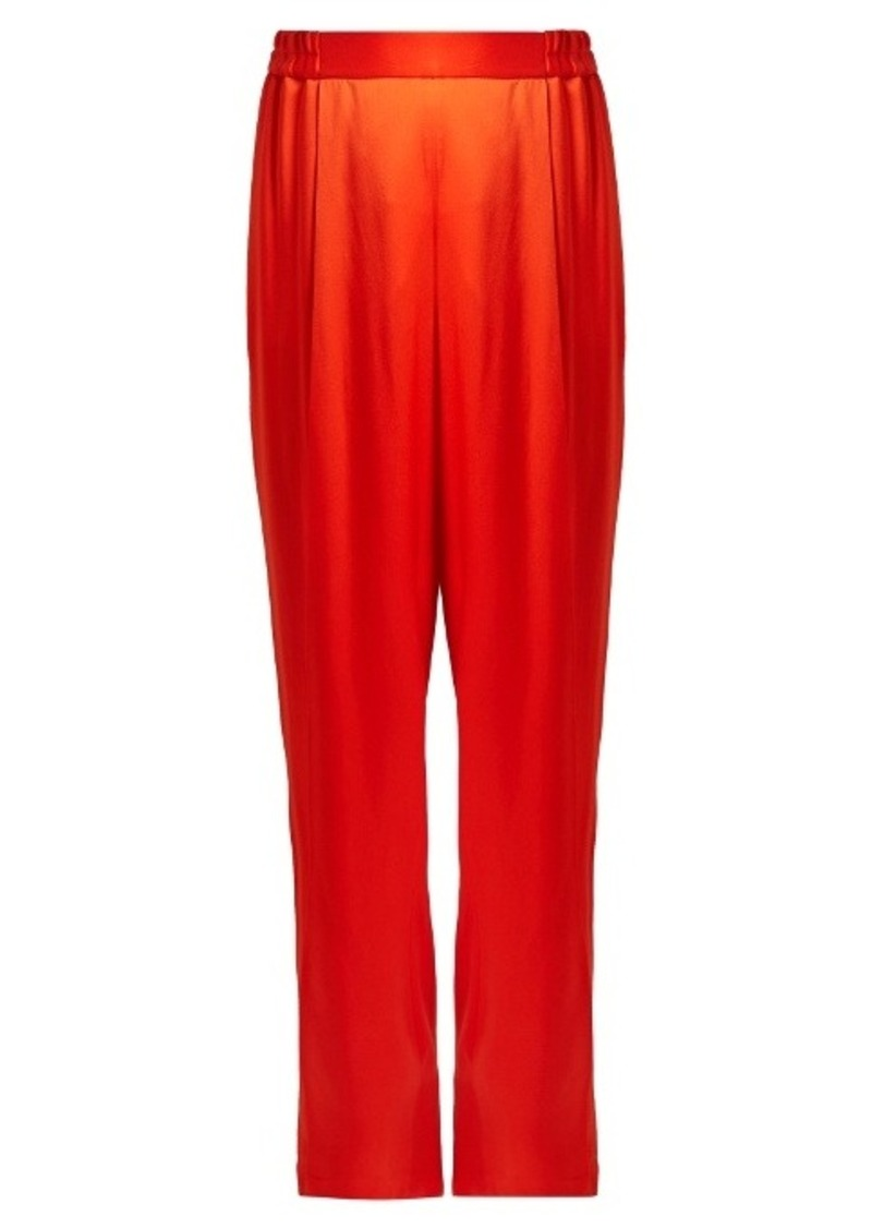 Stella McCartney Cicely wide-leg satin trousers